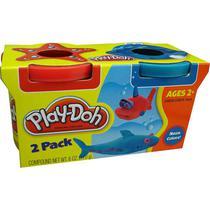 Massinha Play-Doh - 2 Potes Vermelho e Azul - Hasbro -