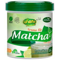 Matcha Termo Fit Instantâneo Limão 220g Unilife -