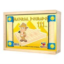 Material dourado 111 pcs - caixa madeira - 1172 - Ciabrink