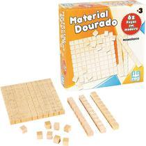 Material Dourado 62 Peas Em Madeira Nig Brinquedos -