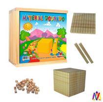 Material Dourado De Madeira 611 Peças Ciabrink -