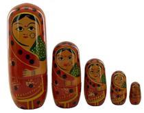 Matrioska- Conjunto Bonecas De Madeira- Boneca Russa - Loja Da Índia