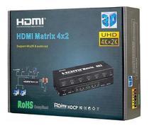 Matrix Hdmi 4x2 Switch Splitter 1080p 4k 3d com Controle - Voo