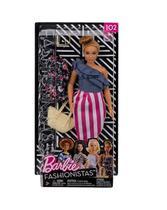 Mattel bb barbie fashionista e roupinha sort fjf67c - morena n102 fry82 -