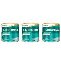 Maxinutri L- Glutamina Pura 300g (Kit C/03) -