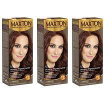 Maxton Tinta 5.74 Chocolate Intenso Acobreado (Kit C/03)