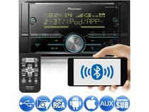 Media Receiver Pioneer MVH-S618BT 2DIN Bluetooth USB Android Iphone 3 Saídas RCA Som Automotivo -