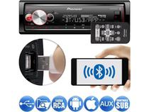 Media Receiver Pioneer MVH-X700BR Flashing Light Bluetooth USB Android Iphone 3 Saídas RCA Mixtrax