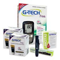 Medição Diabetes Glicose Completo Com 100 Tiras - G Tech