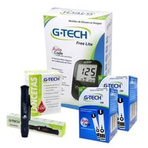 Medição Diabetes Lite Completo Com 100 Tiras - G Tech