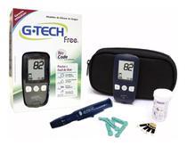 Medidor De Glicose Free + 110 Tiras + 110 Lancetas - G-tech