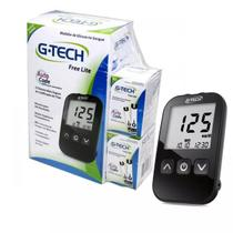 Medidor De Glicose Free Lite + 110 Tiras + 110 Lancetas - G-tech