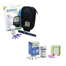 Medidor De Glicose G-tech Lite + 50 Tiras + 50 Lancetas -