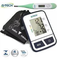 Medidor De Pressão Arterial De Braço Digital Automatico G-tech + Termômetro -