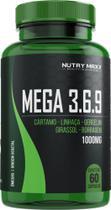 Mega 3 6 9 - Óleo de cártamo, girassol, linhaça, gergelim e borragem - 60 cáps 1000mg - Melcoprol -
