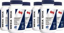 MEGA DHA Vitafor 120 Cápsulas - Omega 3 DHA Alta Concentração Caixa c/ 6 unidades -