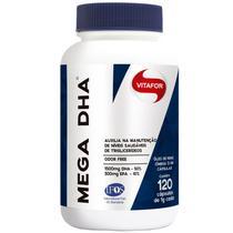 MEGA DHA Vitafor 120 Capsulas - Ômega 3 DHA Alta Concentração -
