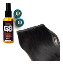 Mega Hair Castanho Liso Fita Adesiva 70cm - 2 Telas + Rem G8 - CABELO HUMANO
