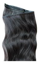 Mega Hair Tic Tac Cabelo Humano Preto 50cm - 70gr - G8