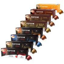 Mega Kit Espresso Blend Cápsulas de Café - Compatíveis com Nespresso -