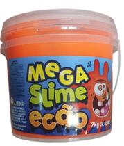 Mega Slime Dtc Ecão 2kg - Laranja Fluorescente - Dtc Toys