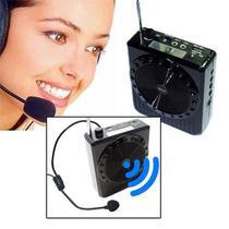 Megafone Amplificador Voz Microfone Professor Radio Fm Usb Mp3 Fone Ouvido Aulas - Inova