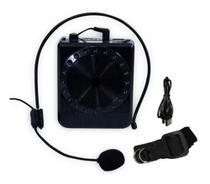 Megafone Amplificador Voz Microfone Professor Radio Fm Usb USB MP3 Fone Ouvido Aula Palestra - DGS