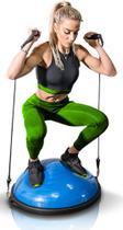 Meia Bola Bosu Com Extensores - Balance Equilíbrio Premium 7166 - Mbfit