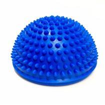 Meia Bola de Equilibrio Pequena com 16 Cm Texturizada Azul Liveup -