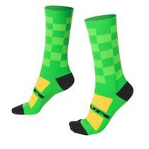 9c5b0bbc6 Meia hupi ciclista colorful collection verde quadriculado 495-61 -
