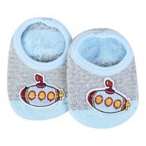Meia Infantil Cano Curto Aplique Divertida Baby - Pimpolho