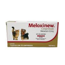 Meloxinew 0,5mg 10 comprimidos Vetnil Anti-inflamatório cães e gatos -