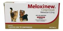 Meloxinew 0,5mg 10 Comprimidos Vetnil Anti-inflamatório -