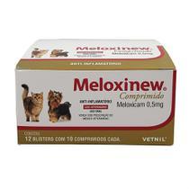 Meloxinew 0,5mg 120 comprimidos Vetnil Anti-inflamatório cães e gatos -