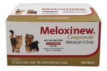 Meloxinew 0,5mg 120 Comprimidos Vetnil Anti-inflamatório -