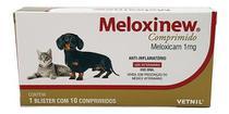 Meloxinew 1mg 10 Comprimidos Vetnil Anti-inflamatório -