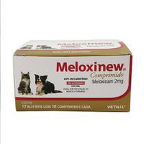 Meloxinew 2mg 120 comprimidos Vetnil Anti-inflamatório cães e gatos -