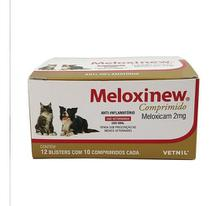 Meloxinew 2mg 120 Comprimidos Vetnil Anti-inflamatório -