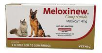 Meloxinew 4mg 10 Comprimidos Vetnil Anti-inflamatório -
