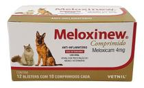 Meloxinew 4mg 120 Comprimidos Vetnil Anti-inflamatório -