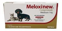 Meloxinew Meloxicam 1mg Cães Gatos Vetnil - 10 Comp - Agropet Nutrimed