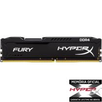 Memória HyperX FURY 8GB 2400Mhz DDR4 CL15 Black - HX424C15FB2/8 - Kingston -