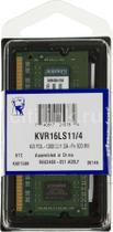 Memoria Notebook 4GB DDR3 1600 Mhz Low Voltage 1,35v Kingston Kvr16ls11/4 -