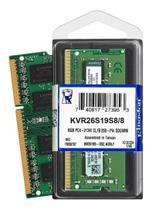 Memória Notebook 8gb 2666mhz Kingston KVR26S19S8/8 -