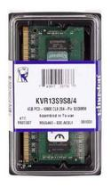 Memória Notebook DDR3 4GB / 1333Ghz 10600 BOX Kingston -