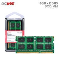Memoria Pcyes Sodimm 8GB Ddr3 1600MHZ -