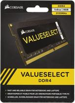 Memoria Sodimm DDR4 8GB C15 2133MHZ CMSO8GX4M1A2133C15 para Notebook - Corsair -