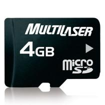 Memory CARD Microsd Multilaser 4GB C/ADAPT MC456