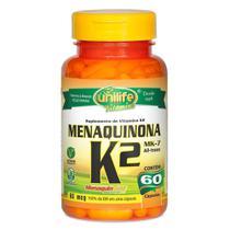 Menaquinona - Vitamina K2 500mg 60 cáps - Unilife -