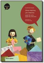 Menina, um menino, uma - papel de carta, papel de embrulho - Scipione